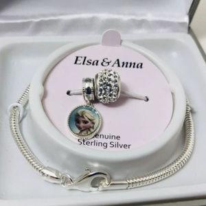DISNEY FROZEN 3pc SET: ELSA & ANNA CHARMS BRACELET